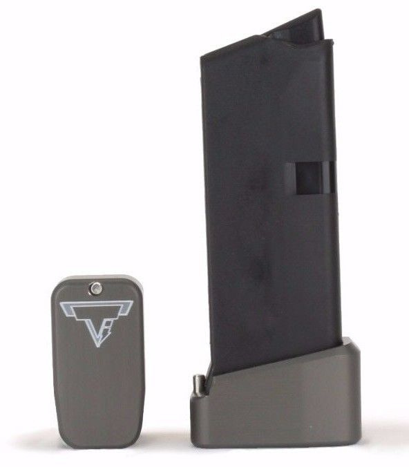 Taran Tactical Base Pad for Glock 43 +2